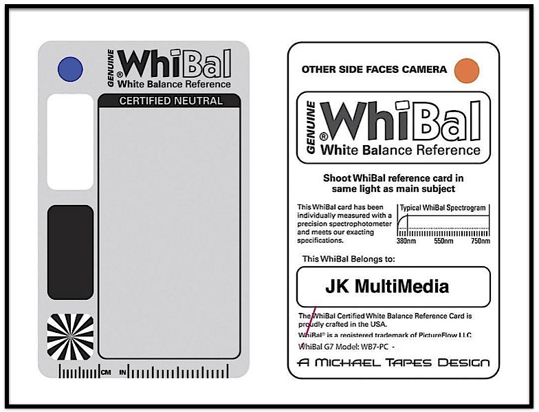 WhiBal Reference Card